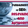 Two Fundamentals of SEO relevance and authority